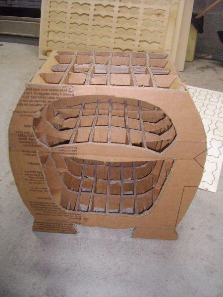 table de chevet en carton crea kris deco. Black Bedroom Furniture Sets. Home Design Ideas